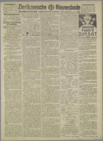 Zierikzeesche Nieuwsbode 1922-04-19