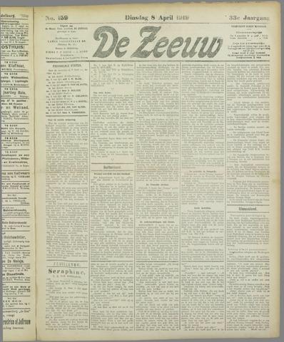 De Zeeuw. Christelijk-historisch nieuwsblad voor Zeeland 1919-04-08