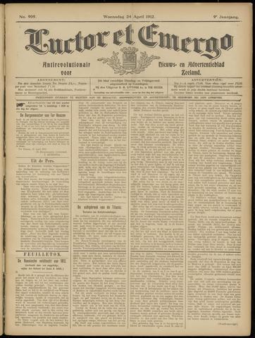 Luctor et Emergo. Antirevolutionair nieuws- en advertentieblad voor Zeeland / Zeeuwsch-Vlaanderen. Orgaan ter verspreiding van de christelijke beginselen in Zeeuwsch-Vlaanderen 1912-04-24