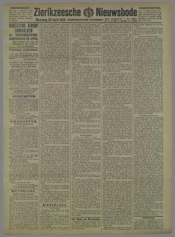 Zierikzeesche Nieuwsbode 1923-04-23