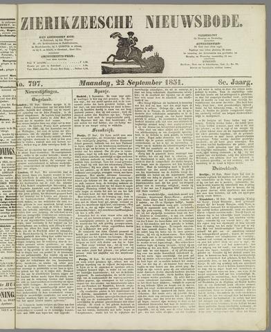 Zierikzeesche Nieuwsbode 1851-09-22