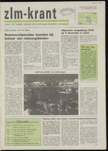 Zeeuwsch landbouwblad ... ZLM land- en tuinbouwblad 1993-11-19