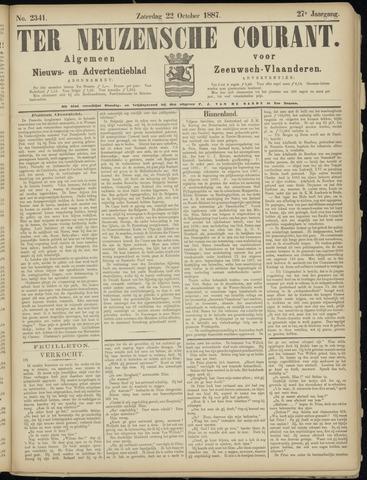 Ter Neuzensche Courant. Algemeen Nieuws- en Advertentieblad voor Zeeuwsch-Vlaanderen / Neuzensche Courant ... (idem) / (Algemeen) nieuws en advertentieblad voor Zeeuwsch-Vlaanderen 1887-10-22