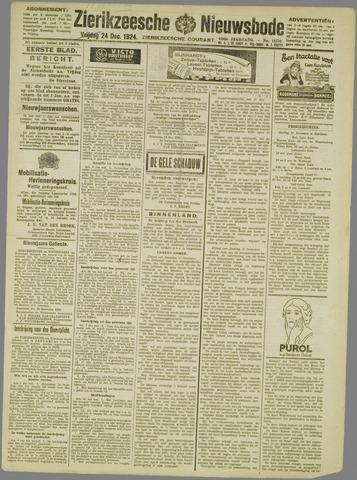 Zierikzeesche Nieuwsbode 1924-12-24
