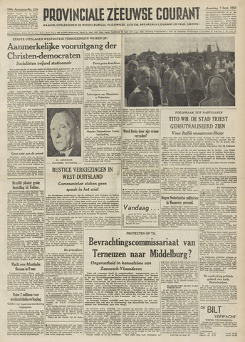 Provinciale Zeeuwse Courant 1953-09-07