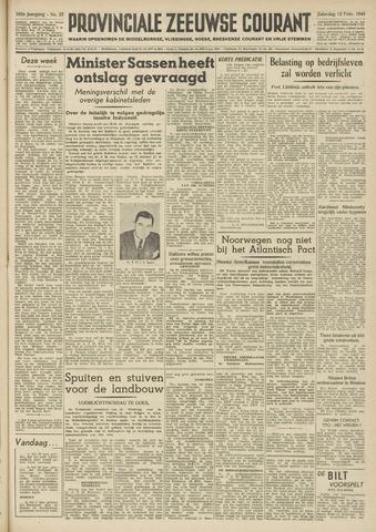 Provinciale Zeeuwse Courant 1949-02-12