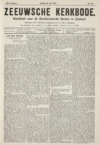 Zeeuwsche kerkbode, weekblad gewijd aan de belangen der gereformeerde kerken/ Zeeuwsch kerkblad 1925-07-24