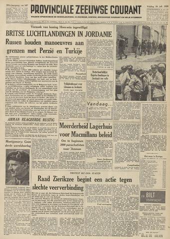 Provinciale Zeeuwse Courant 1958-07-18