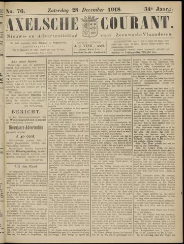 Axelsche Courant 1918-12-28