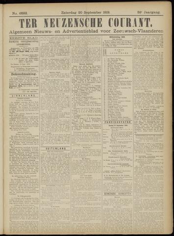 Ter Neuzensche Courant. Algemeen Nieuws- en Advertentieblad voor Zeeuwsch-Vlaanderen / Neuzensche Courant ... (idem) / (Algemeen) nieuws en advertentieblad voor Zeeuwsch-Vlaanderen 1919-09-20