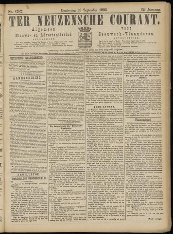 Ter Neuzensche Courant. Algemeen Nieuws- en Advertentieblad voor Zeeuwsch-Vlaanderen / Neuzensche Courant ... (idem) / (Algemeen) nieuws en advertentieblad voor Zeeuwsch-Vlaanderen 1902-09-25