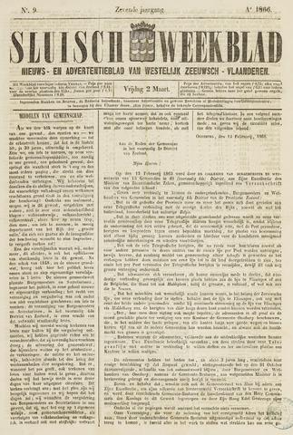 Sluisch Weekblad. Nieuws- en advertentieblad voor Westelijk Zeeuwsch-Vlaanderen 1866-03-02