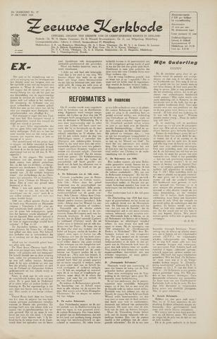 Zeeuwsche kerkbode, weekblad gewijd aan de belangen der gereformeerde kerken/ Zeeuwsch kerkblad 1965-10-29