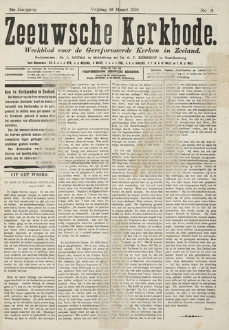 Zeeuwsche kerkbode, weekblad gewijd aan de belangen der gereformeerde kerken/ Zeeuwsch kerkblad 1918-03-29