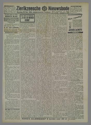 Zierikzeesche Nieuwsbode 1934-02-26
