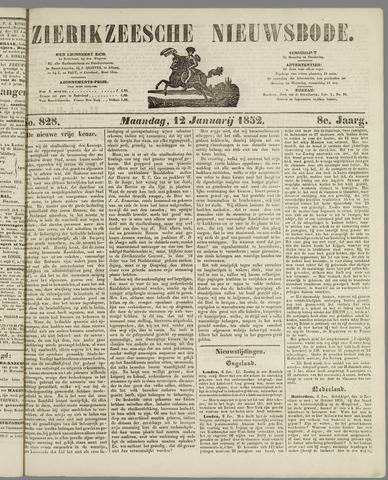 Zierikzeesche Nieuwsbode 1852-01-12