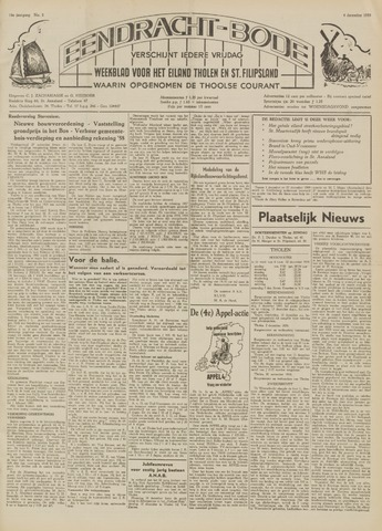 Eendrachtbode (1945-heden)/Mededeelingenblad voor het eiland Tholen (1944/45) 1959-12-04