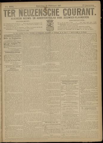Ter Neuzensche Courant. Algemeen Nieuws- en Advertentieblad voor Zeeuwsch-Vlaanderen / Neuzensche Courant ... (idem) / (Algemeen) nieuws en advertentieblad voor Zeeuwsch-Vlaanderen 1917-02-10