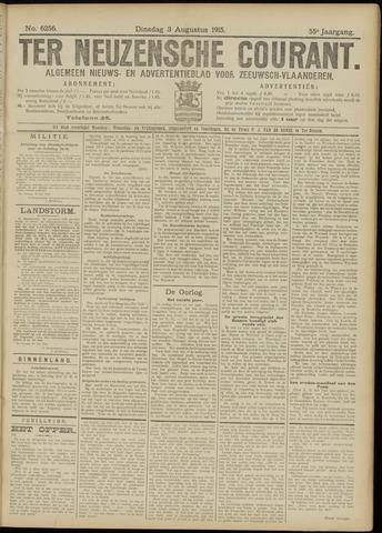 Ter Neuzensche Courant. Algemeen Nieuws- en Advertentieblad voor Zeeuwsch-Vlaanderen / Neuzensche Courant ... (idem) / (Algemeen) nieuws en advertentieblad voor Zeeuwsch-Vlaanderen 1915-08-03