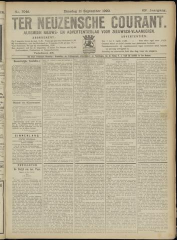 Ter Neuzensche Courant. Algemeen Nieuws- en Advertentieblad voor Zeeuwsch-Vlaanderen / Neuzensche Courant ... (idem) / (Algemeen) nieuws en advertentieblad voor Zeeuwsch-Vlaanderen 1920-09-21