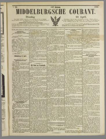 Middelburgsche Courant 1906-04-24