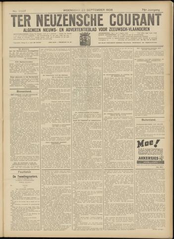 Ter Neuzensche Courant. Algemeen Nieuws- en Advertentieblad voor Zeeuwsch-Vlaanderen / Neuzensche Courant ... (idem) / (Algemeen) nieuws en advertentieblad voor Zeeuwsch-Vlaanderen 1936-09-23