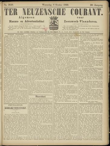 Ter Neuzensche Courant. Algemeen Nieuws- en Advertentieblad voor Zeeuwsch-Vlaanderen / Neuzensche Courant ... (idem) / (Algemeen) nieuws en advertentieblad voor Zeeuwsch-Vlaanderen 1890-10-08