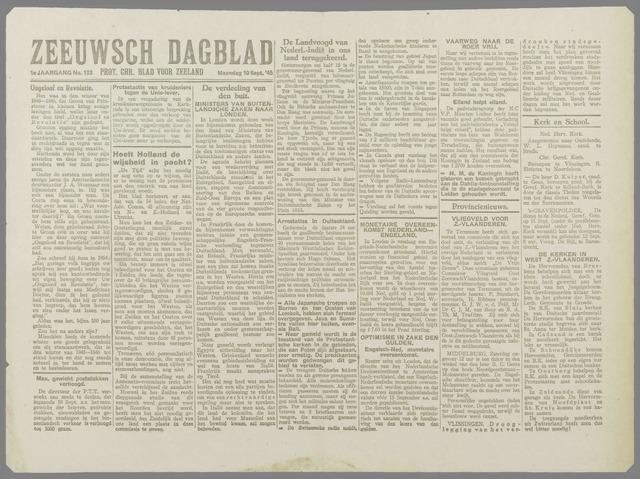 Zeeuwsch Dagblad 1945-09-10