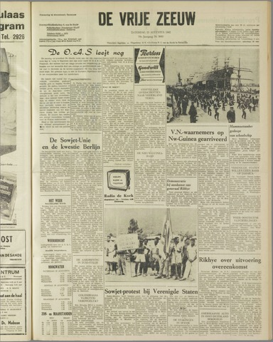 de Vrije Zeeuw 1962-08-25