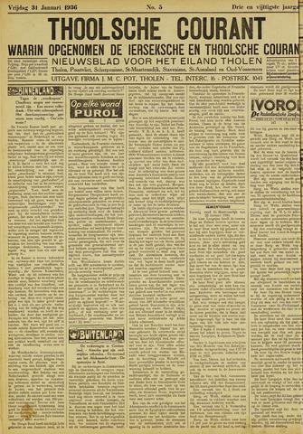 Ierseksche en Thoolsche Courant 1936-01-31