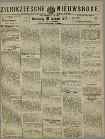 Zierikzeesche Nieuwsbode 1917-01-10