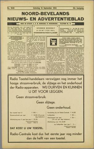 Noord-Bevelands Nieuws- en advertentieblad 1934-09-15