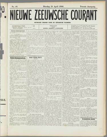 Nieuwe Zeeuwsche Courant 1906-04-24