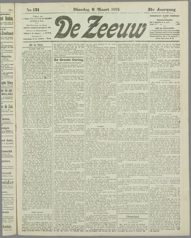 De Zeeuw. Christelijk-historisch nieuwsblad voor Zeeland 1917-03-06