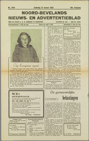 Noord-Bevelands Nieuws- en advertentieblad 1953-01-31