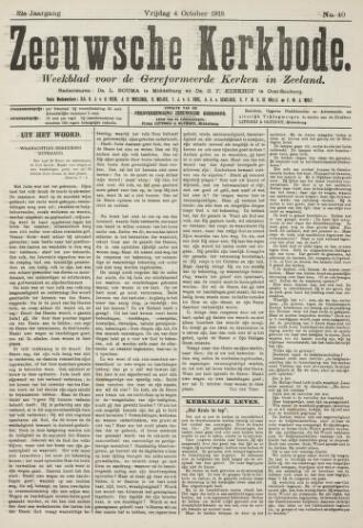 Zeeuwsche kerkbode, weekblad gewijd aan de belangen der gereformeerde kerken/ Zeeuwsch kerkblad 1918-10-04