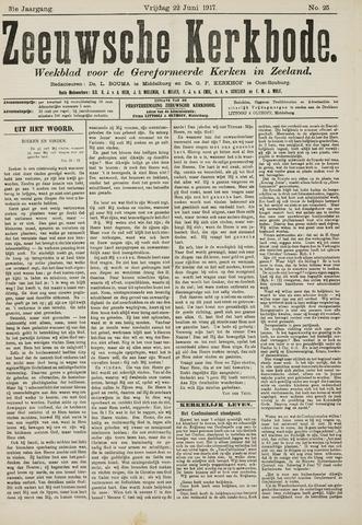 Zeeuwsche kerkbode, weekblad gewijd aan de belangen der gereformeerde kerken/ Zeeuwsch kerkblad 1917-06-22