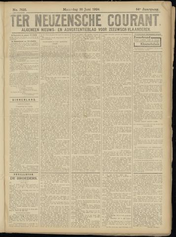 Ter Neuzensche Courant. Algemeen Nieuws- en Advertentieblad voor Zeeuwsch-Vlaanderen / Neuzensche Courant ... (idem) / (Algemeen) nieuws en advertentieblad voor Zeeuwsch-Vlaanderen 1924-06-30