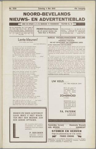 Noord-Bevelands Nieuws- en advertentieblad 1940-05-04