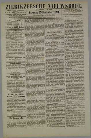 Zierikzeesche Nieuwsbode 1893-09-23