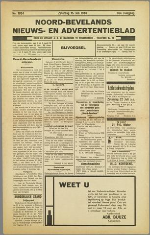 Noord-Bevelands Nieuws- en advertentieblad 1933-07-15