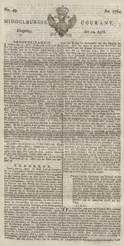 Middelburgsche Courant 1764-04-24