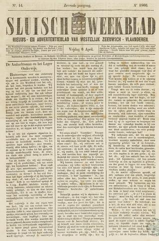 Sluisch Weekblad. Nieuws- en advertentieblad voor Westelijk Zeeuwsch-Vlaanderen 1866-04-06