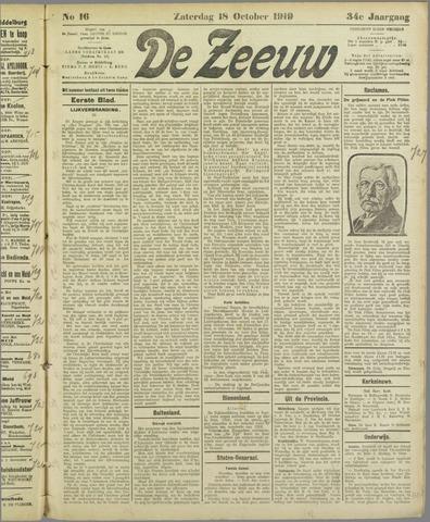 De Zeeuw. Christelijk-historisch nieuwsblad voor Zeeland 1919-10-18