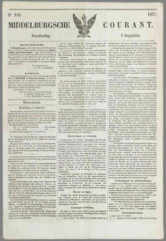 Middelburgsche Courant 1871-08-03