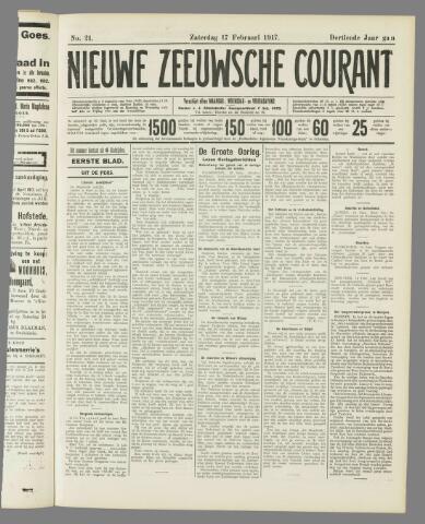 Nieuwe Zeeuwsche Courant 1917-02-17