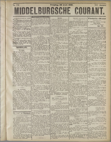 Middelburgsche Courant 1921-07-22