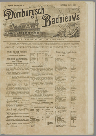 Domburgsch Badnieuws 1891