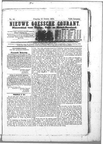 Nieuwe Goessche Courant 1870-10-25