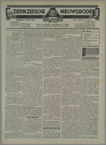 Zierikzeesche Nieuwsbode 1936-06-02